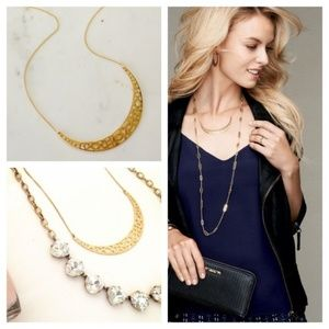 :: Stella & Dot GOLD Avalon Crescent Necklace